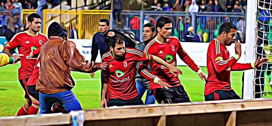 révolte égypte football