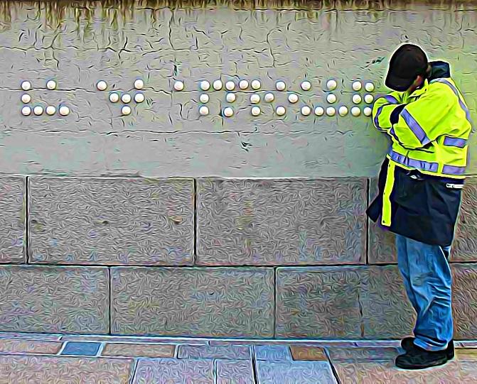 graffitis pour aveugles