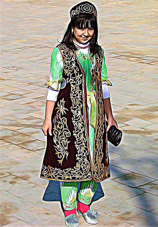 tenue traditionnelle ouzbek