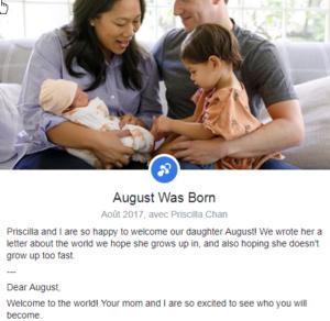 zuckerberg facebook et bébé