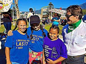 Alba et filles et ambassadeur de France au Salvador