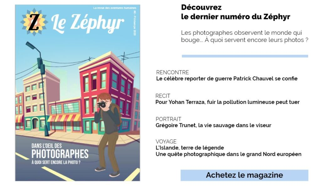 Publicité du numéro photo de la revue du Zéphyr